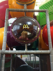 My baby was excited to finally be big enough for the play equipment.